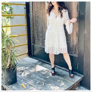 Bohemian chic vintage style Lace dress